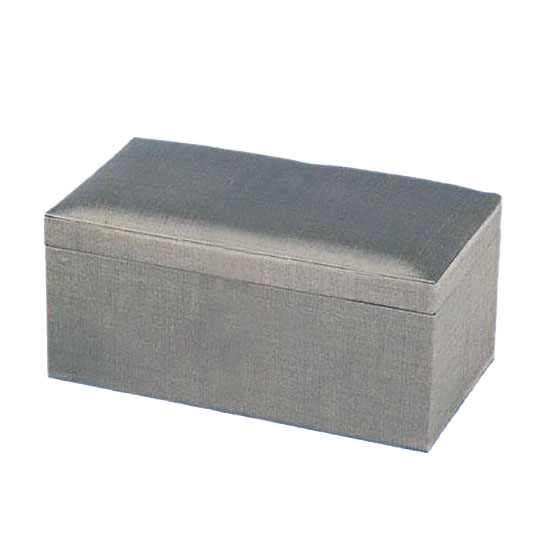 Silver Thai silk gift box for favour and jewelry