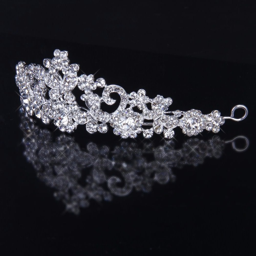 rhinestone tiara crown brooch