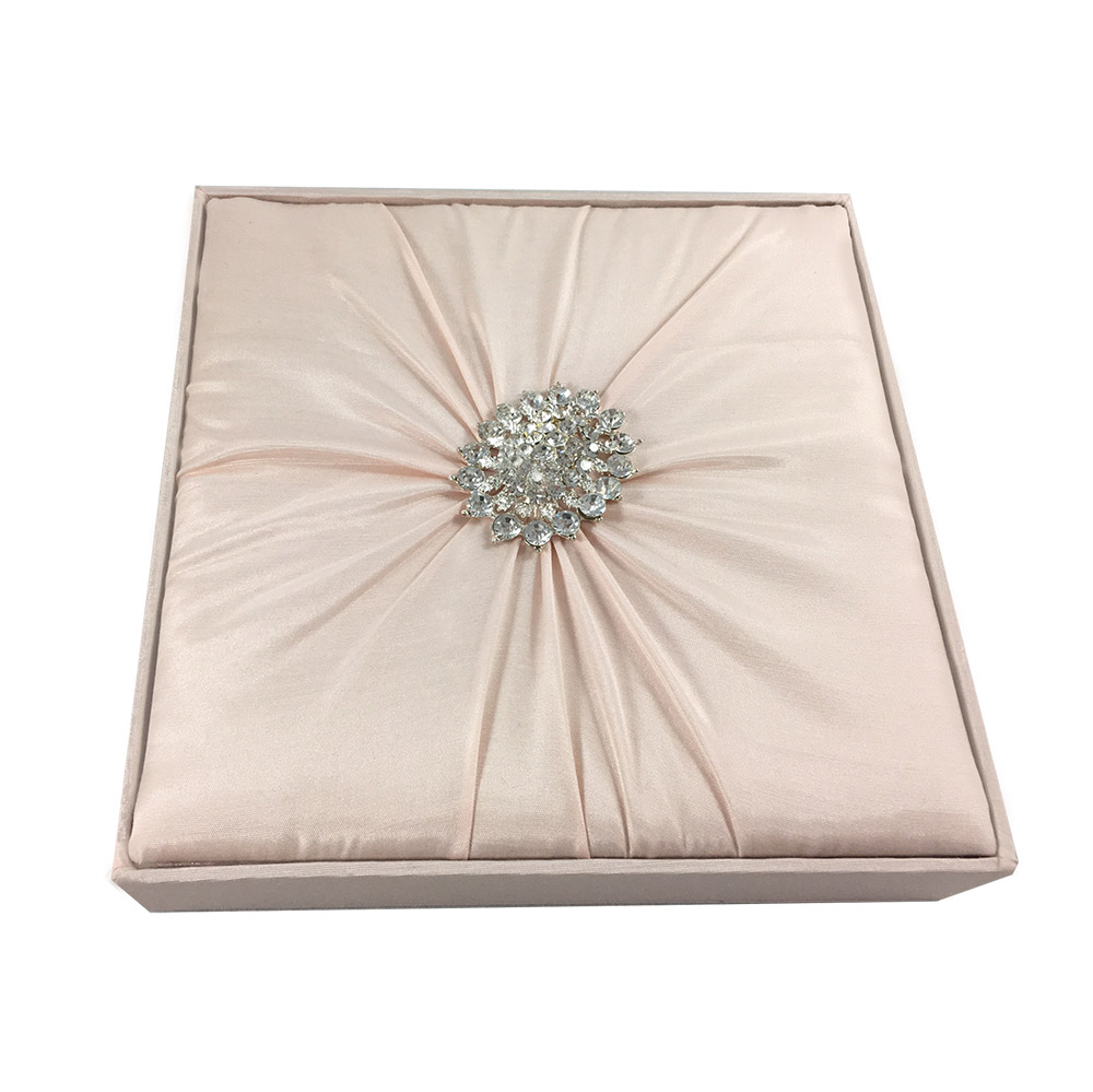 Blush Pink Invitation Box In Couture Design For Wedding Quinceanera Event Cards