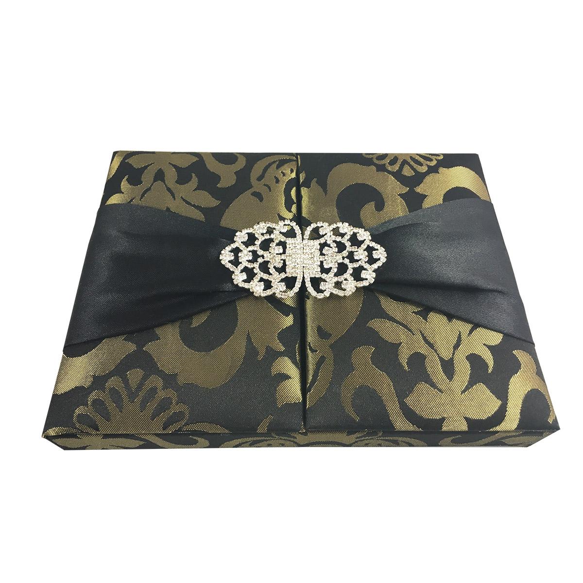 invitation box in brocade silk