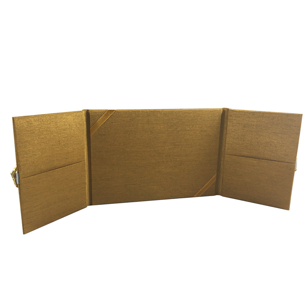golden pocket folder for cards