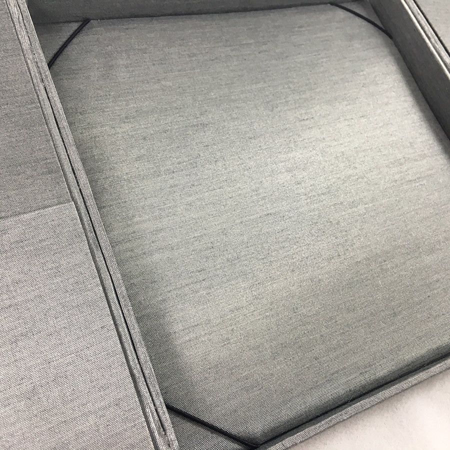grey boxed wedding invitation
