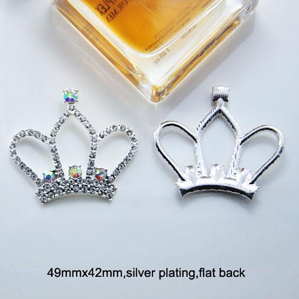 Tiara flatback rhinestone brooch