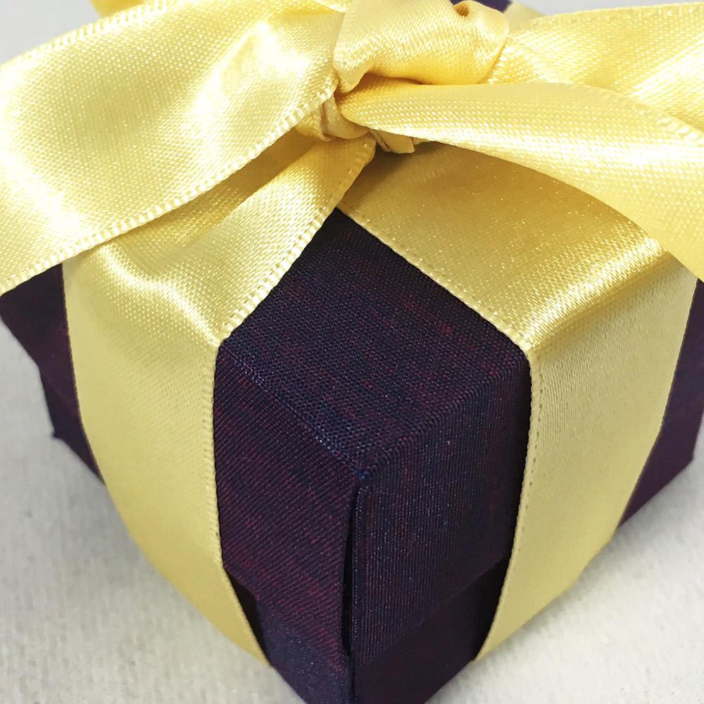 eggplant silk box