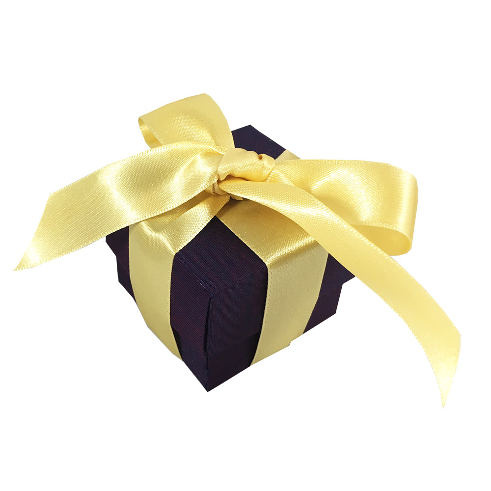 eggplant color wedding favour box