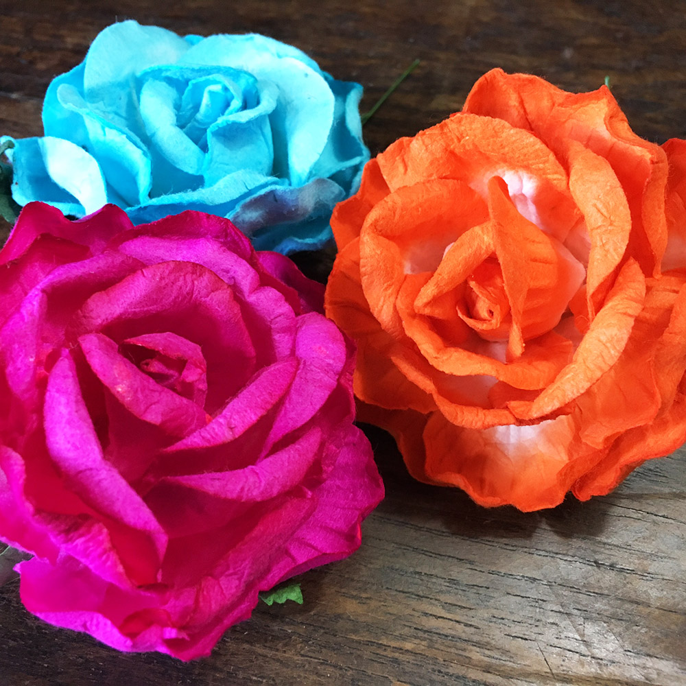 Mulberry paper flower for wholesale for wedding decor