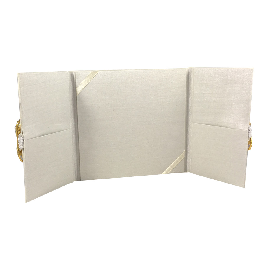 three fold wedding invitation