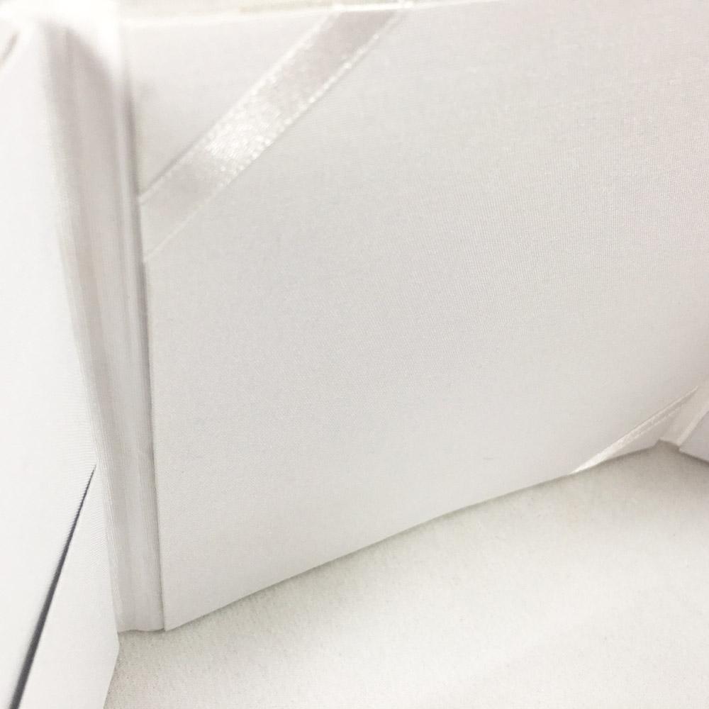 interior of white folder in close up