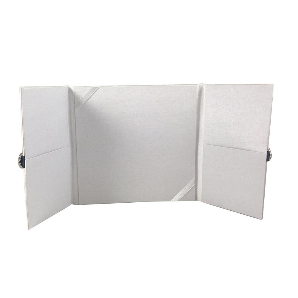 white wedding folder