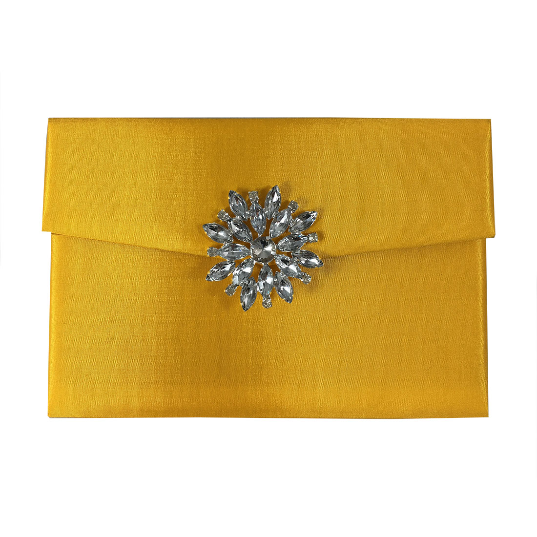 yellow wedding invitation envelope