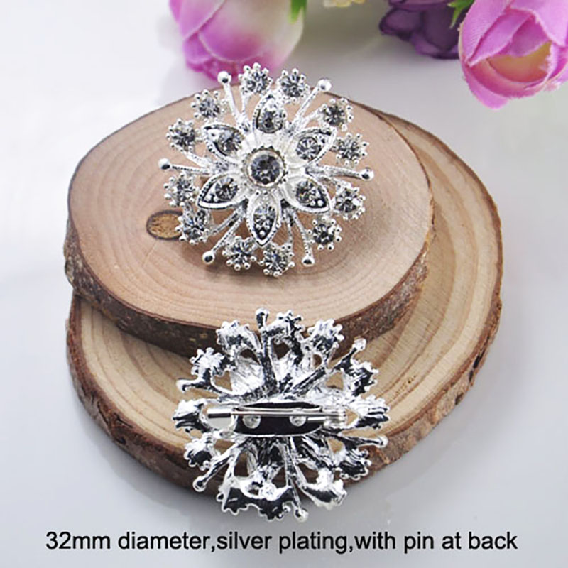 Crystal brooch wedding embellishment