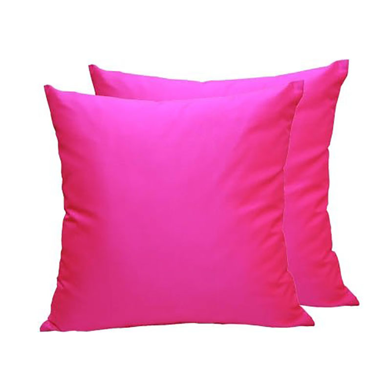 Fuchsia Thai silk pillow cover