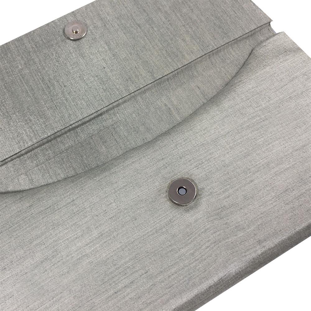 interior of silk envelope with magnet lock
