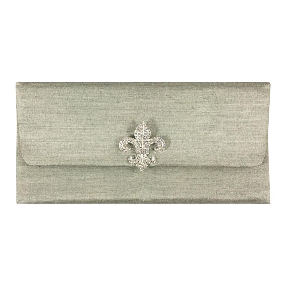 Fleur De Lis Invitation Envelope With Padding & Magnet Lock - Luxury ...