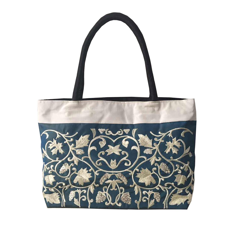 medium blue silk bags