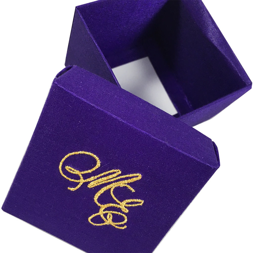 purple favour box