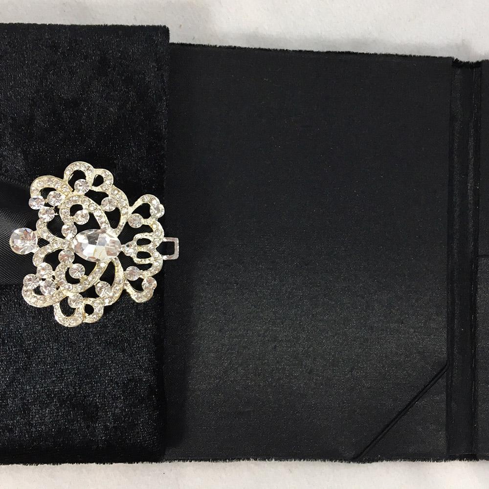 black velvet folder