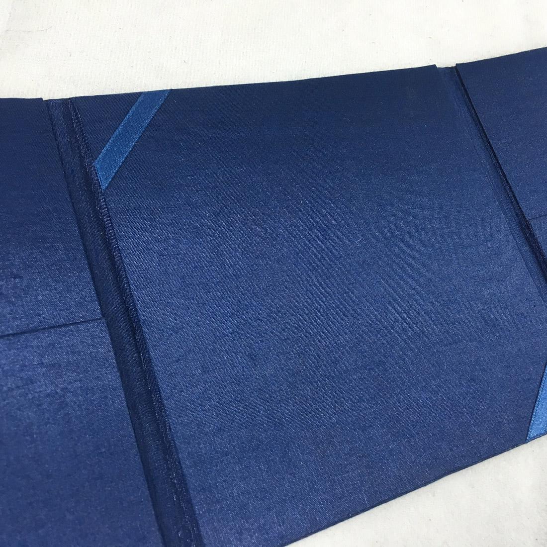 blue invitation folder