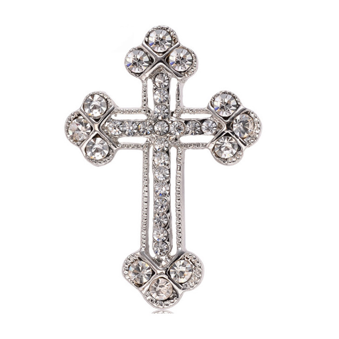 Cross brooch to embellish invitations