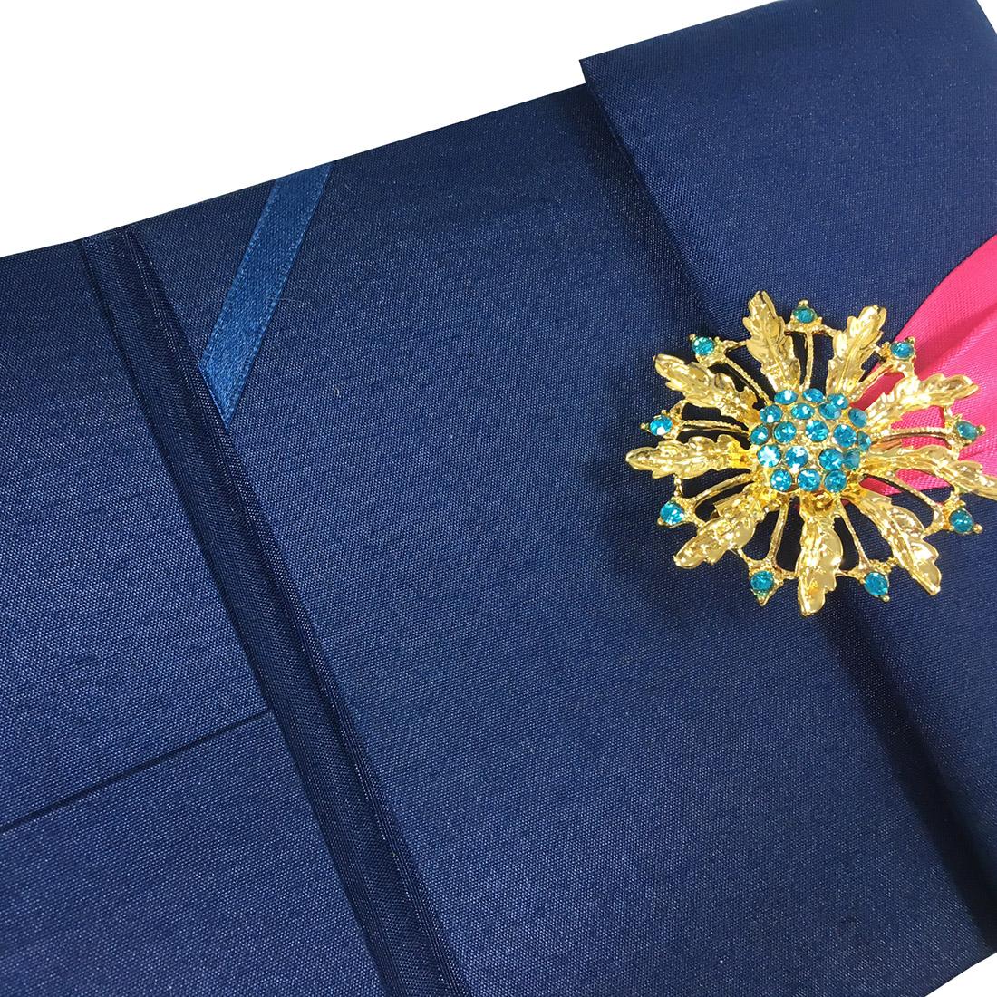embellished wedding folder