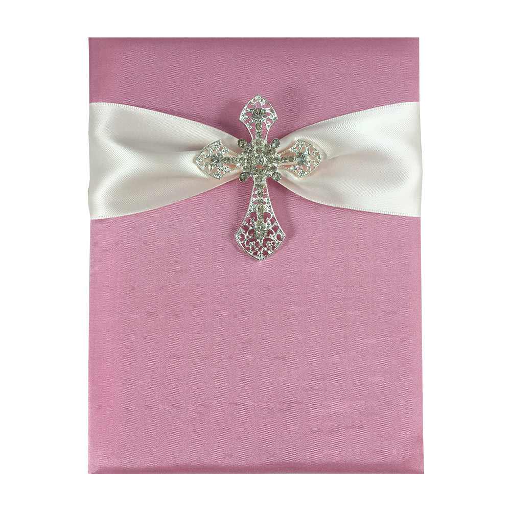 Cross Brooch Invitations.