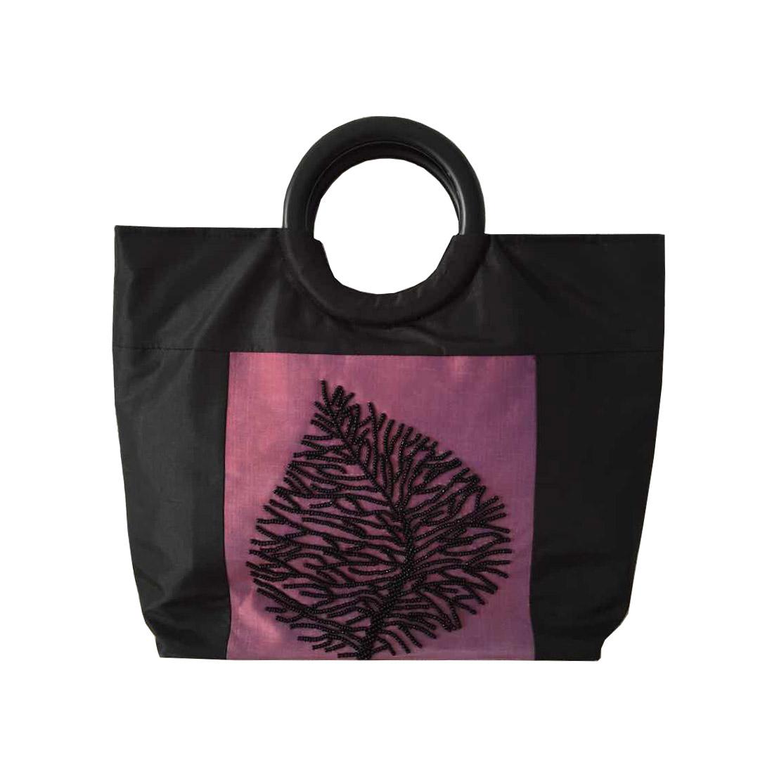Black & Light Purple Vietnam Handbag
