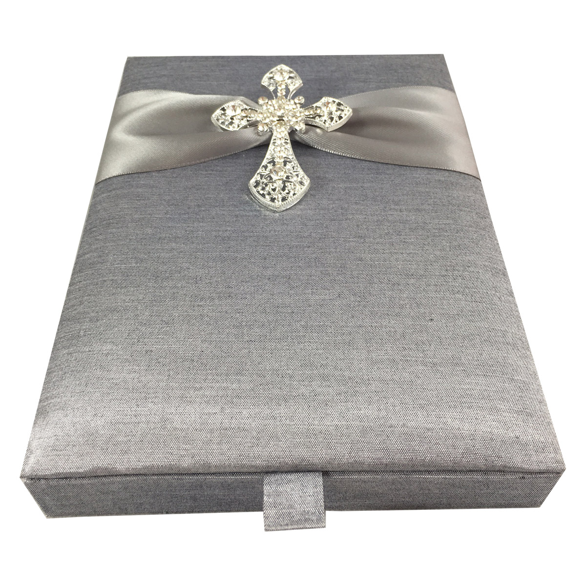 cross brooch communion invitation box