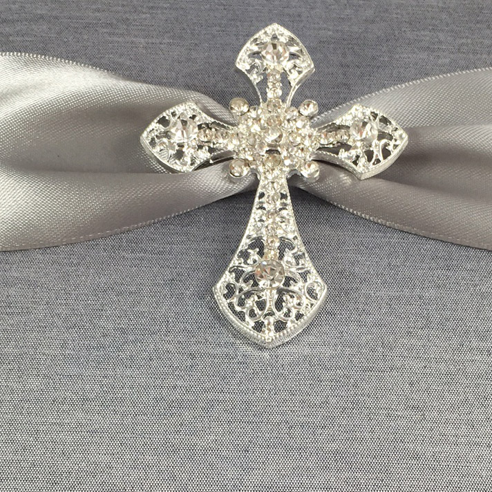 cross brooch embellishment