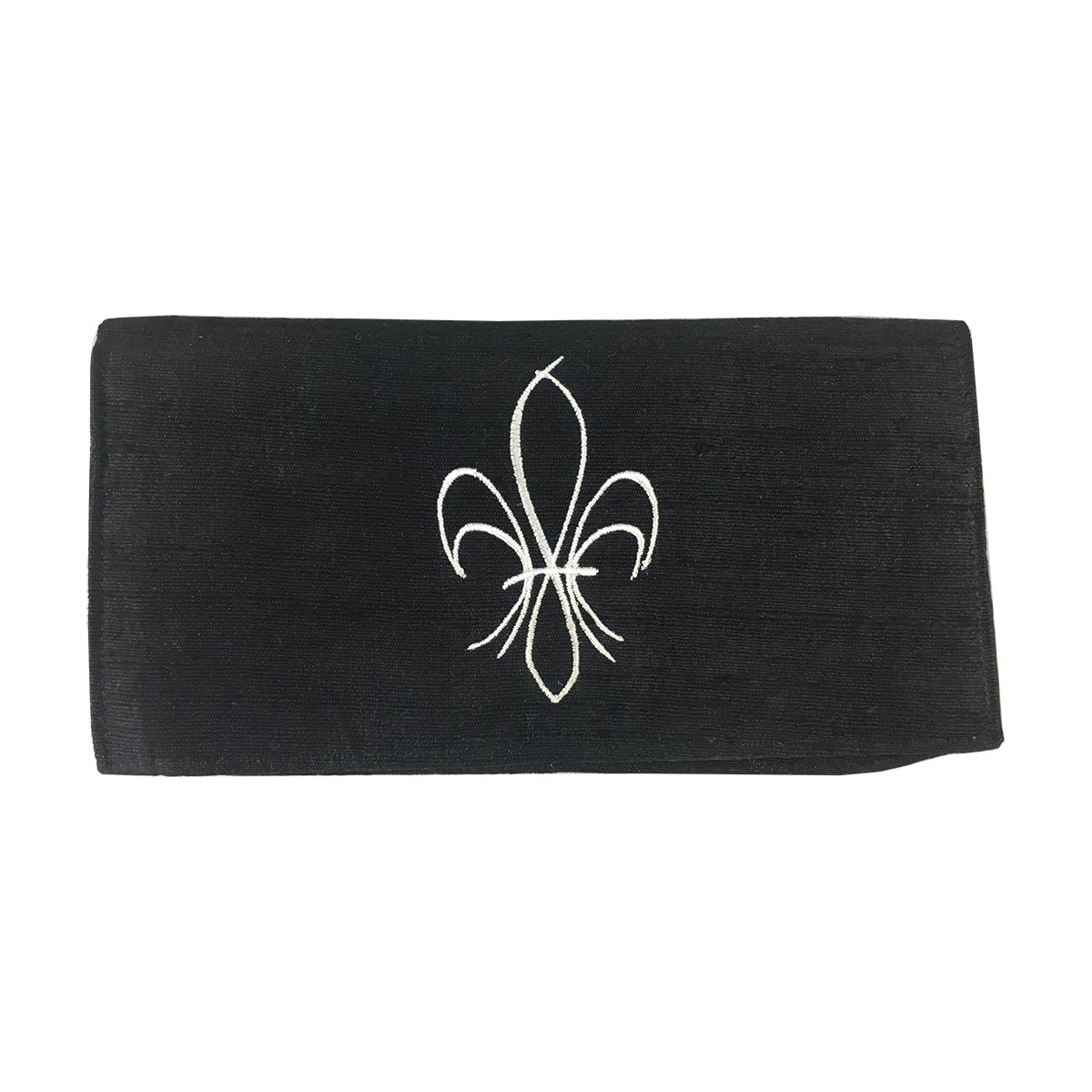 fleur de lis silk make-up pouch