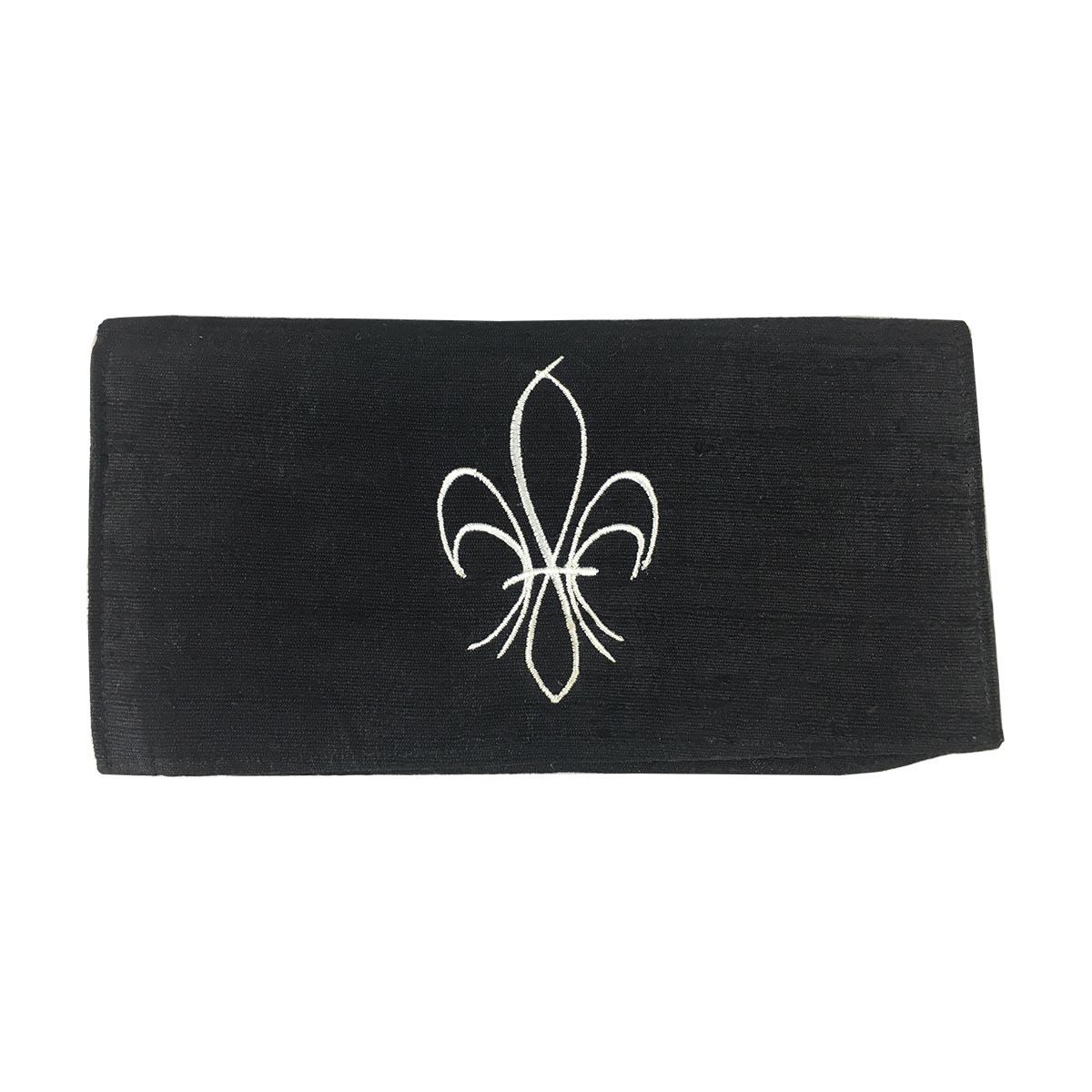 fleur de lis silk make-up pouch