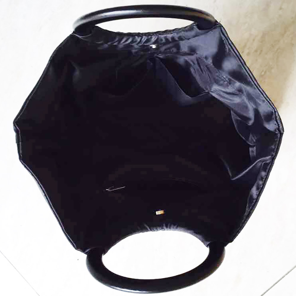 black linen inside Vietnam silk bag