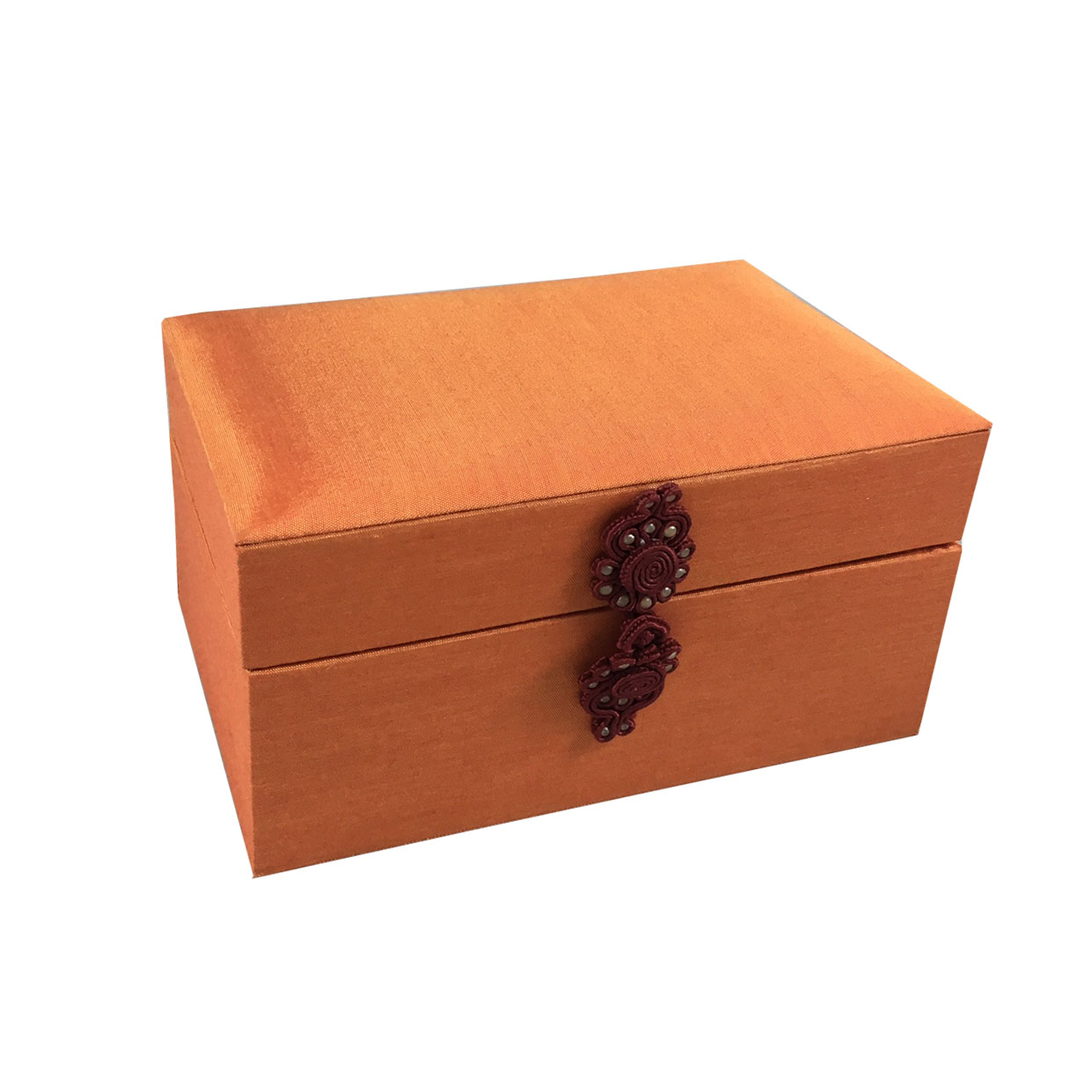 Orange Silk Gift Box For Wedding, Mitzvah & Party Favour - Luxury ...