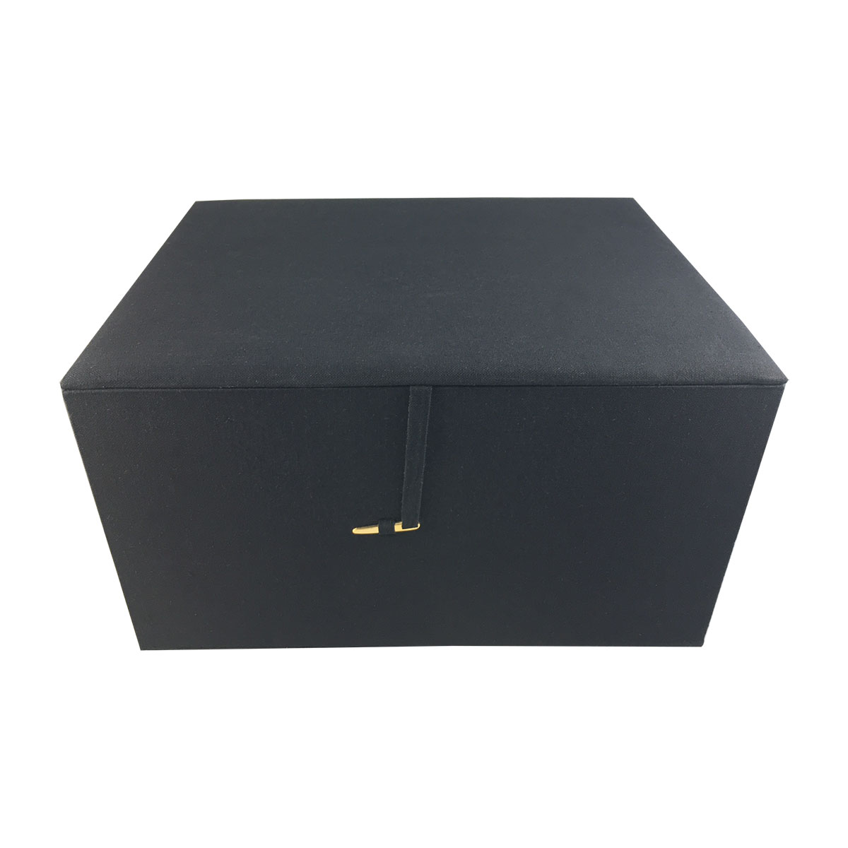 Large black cotton packaging box