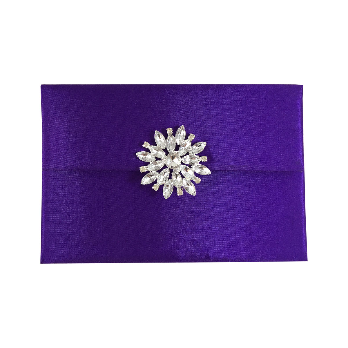 Purple high end invitation envelope
