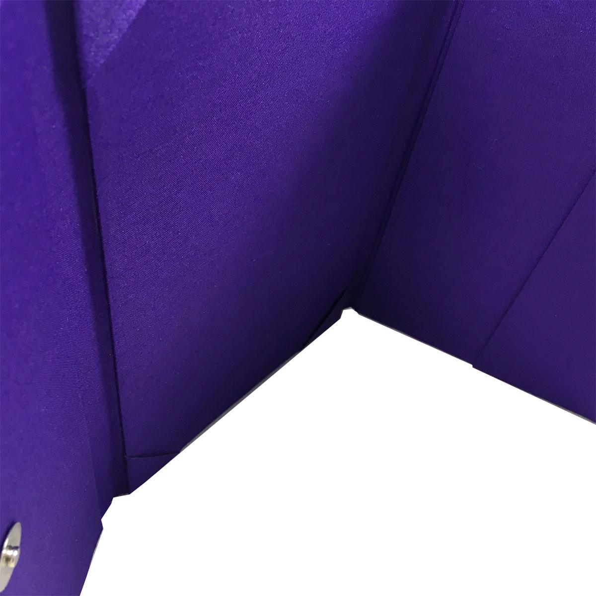 Purple three fold invitation