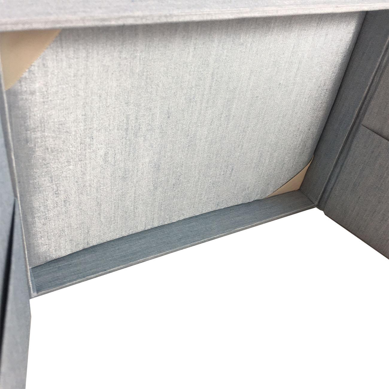 interior of silk custom wedding box