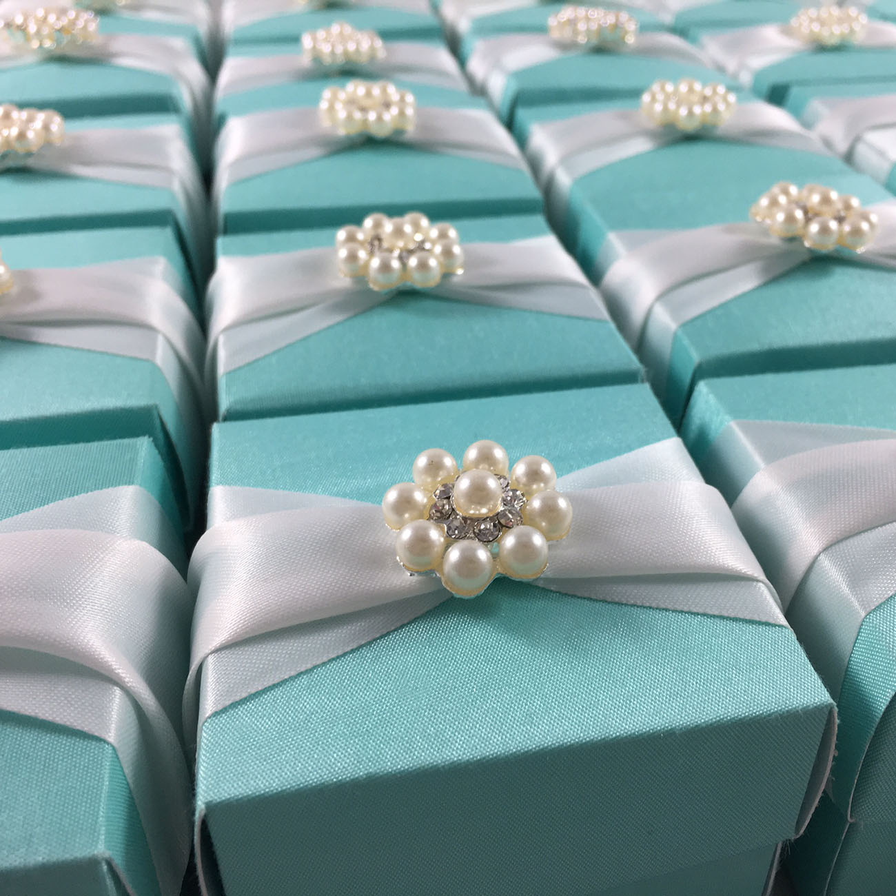 tiffany wedding favor box