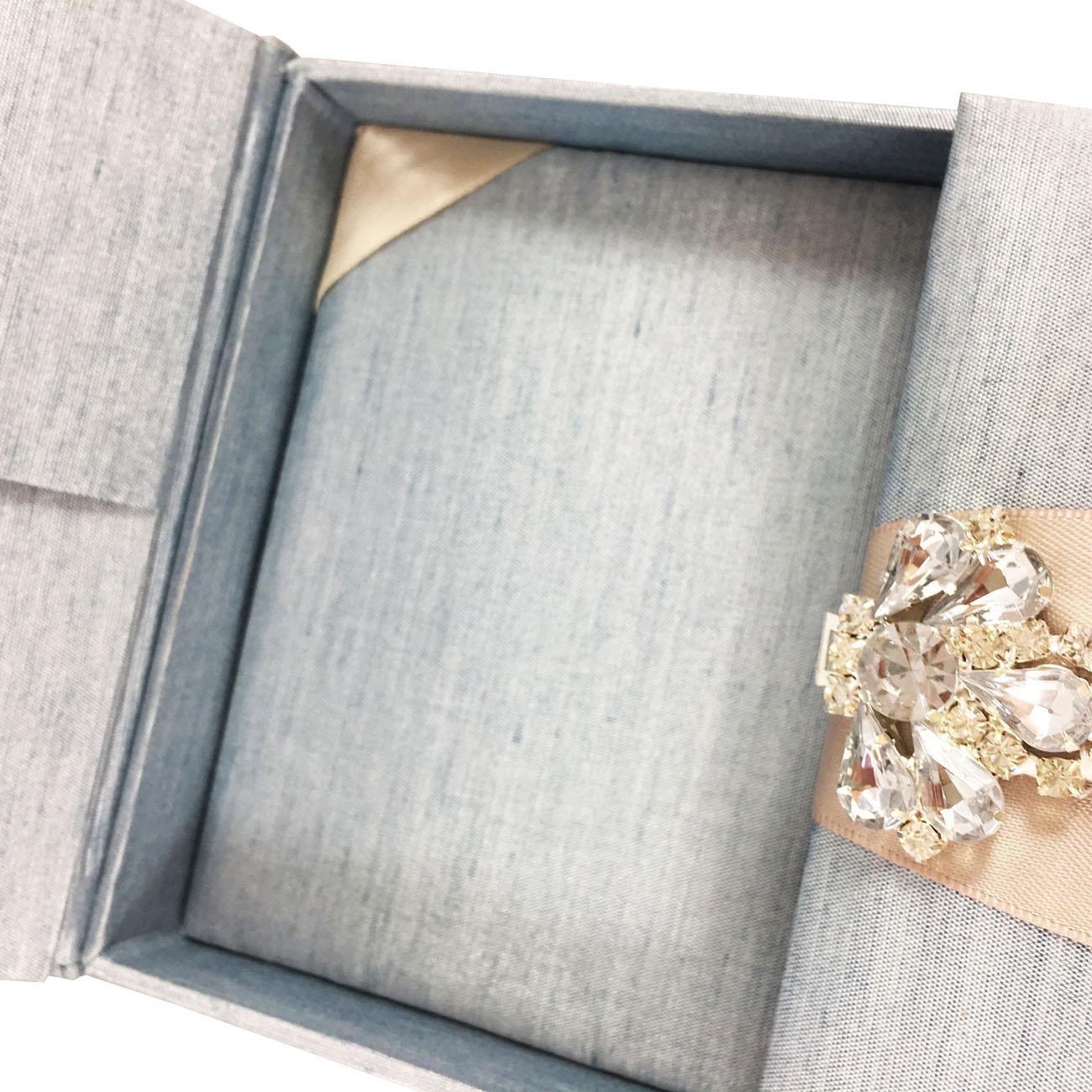 gatefold boxed wedding invitation