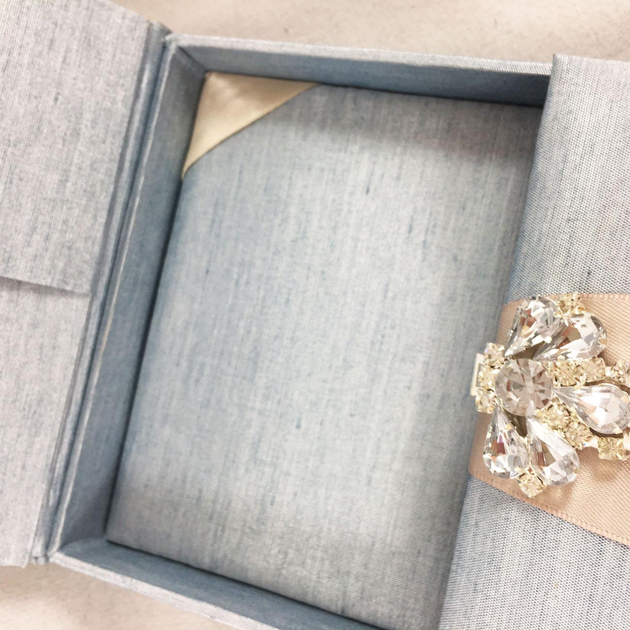 Top view of wedding custom box