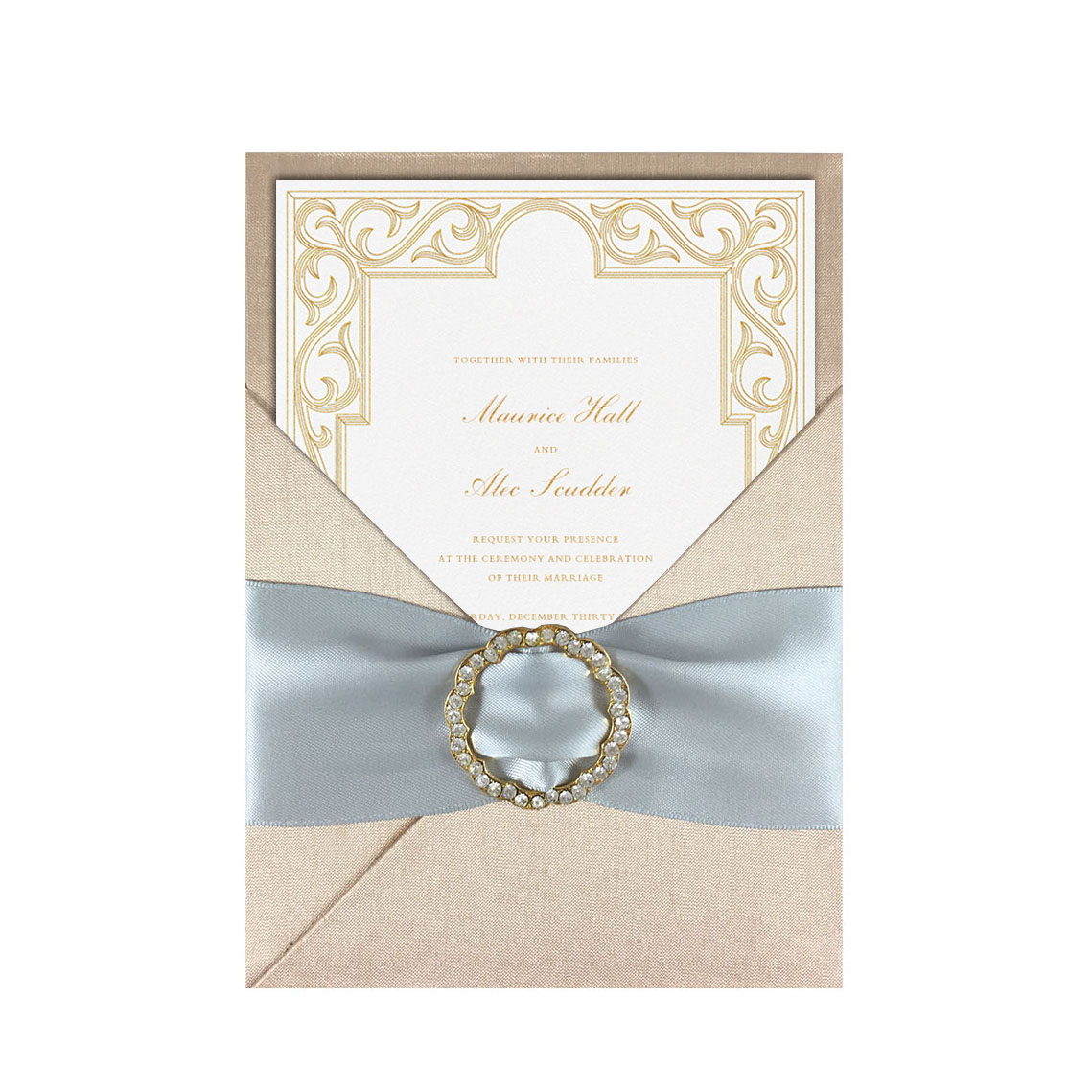 Luxury wedding invitation cards