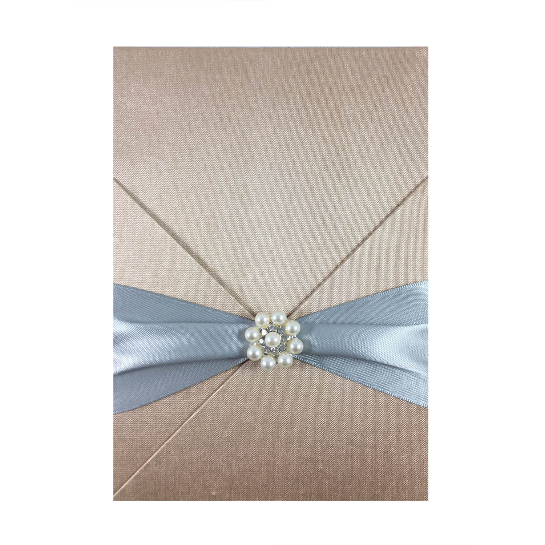 pearl wedding invitation card