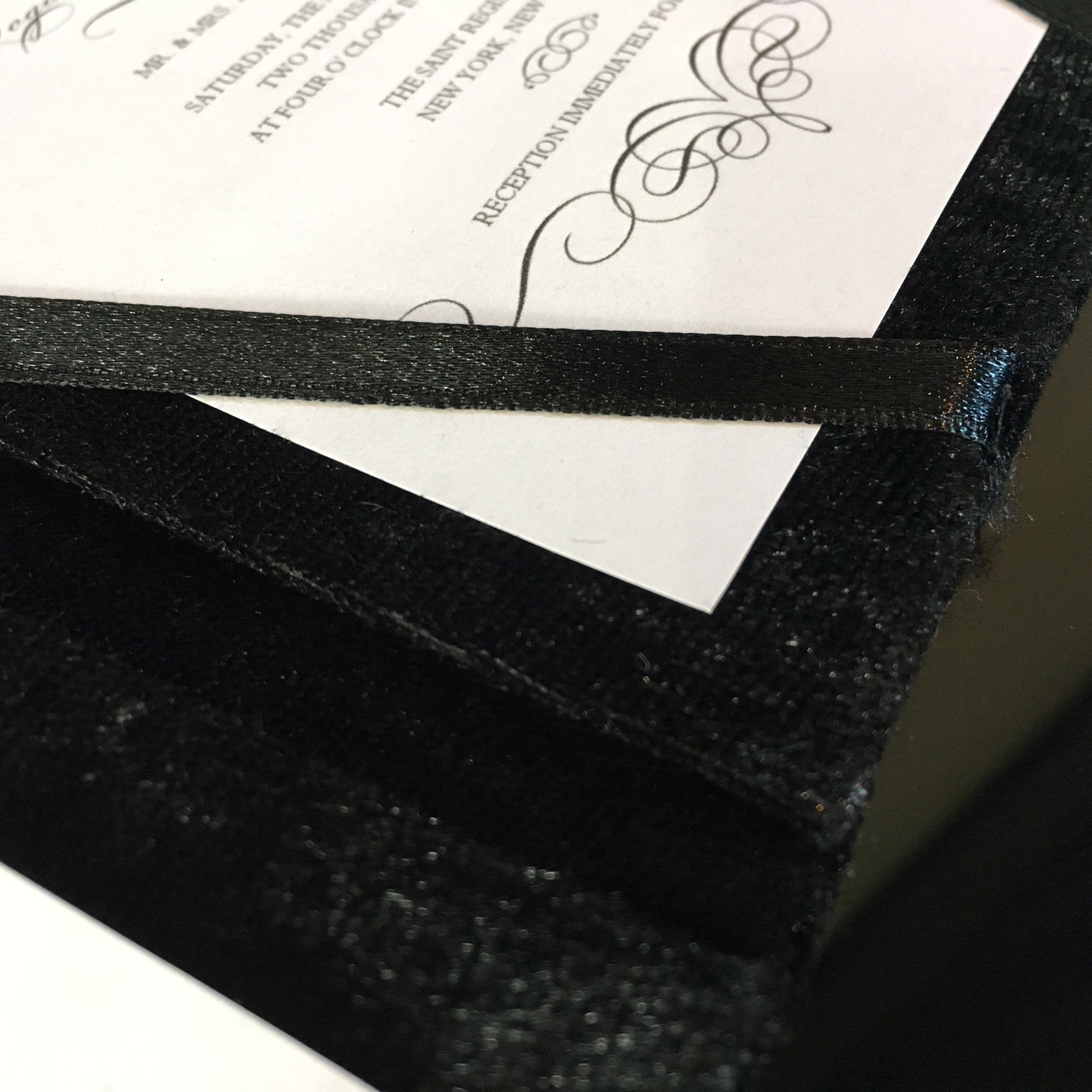 black velvet invitation