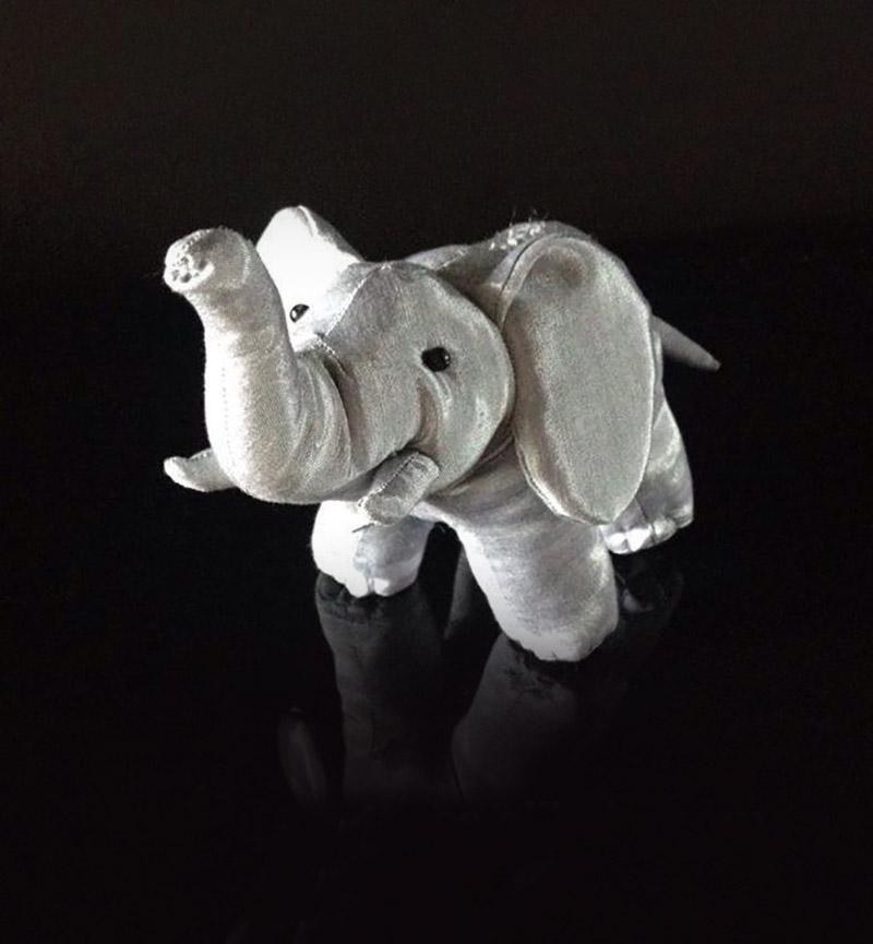 silver silk elephant