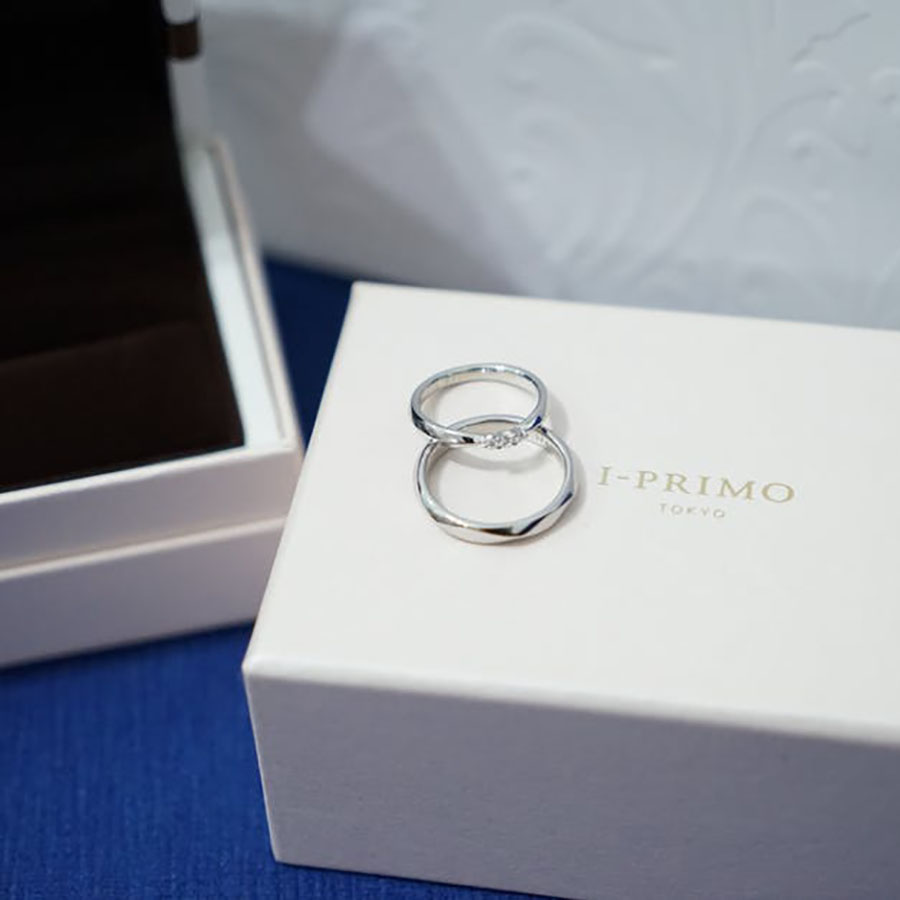 high-end wedding ring packaging box with logo print