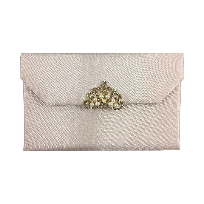 silk envelope in blush pink
