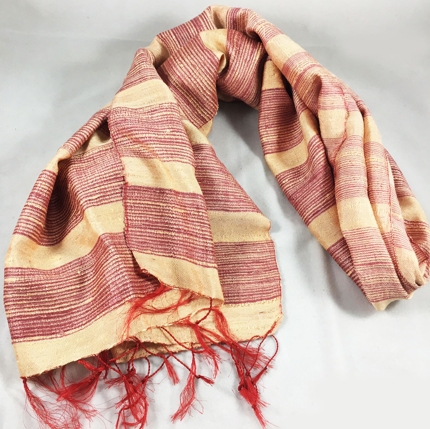 handwoven Thai silk shawl
