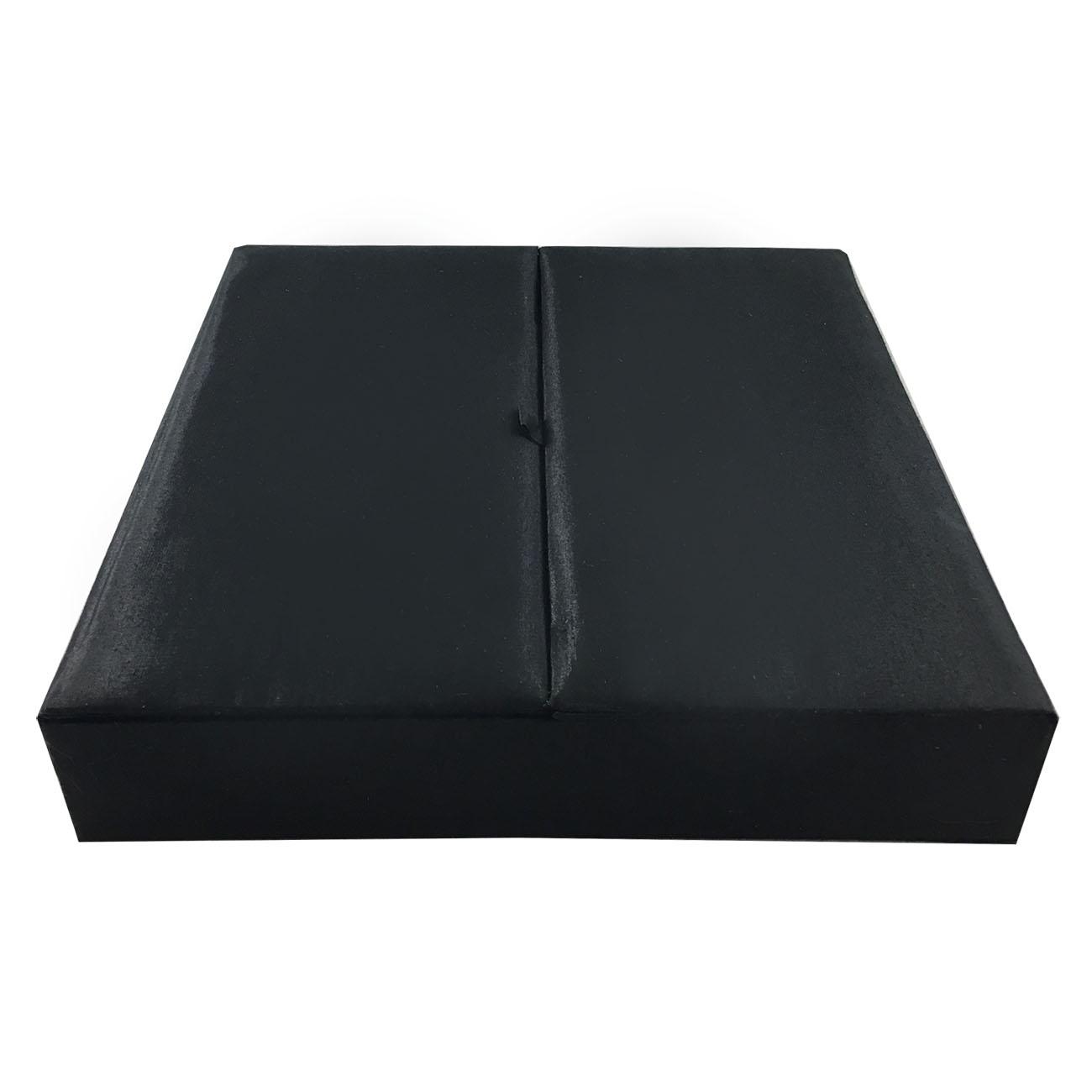 Large black funeral box