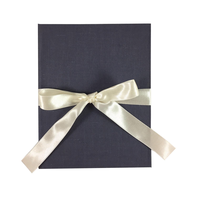 charcoal linen folder