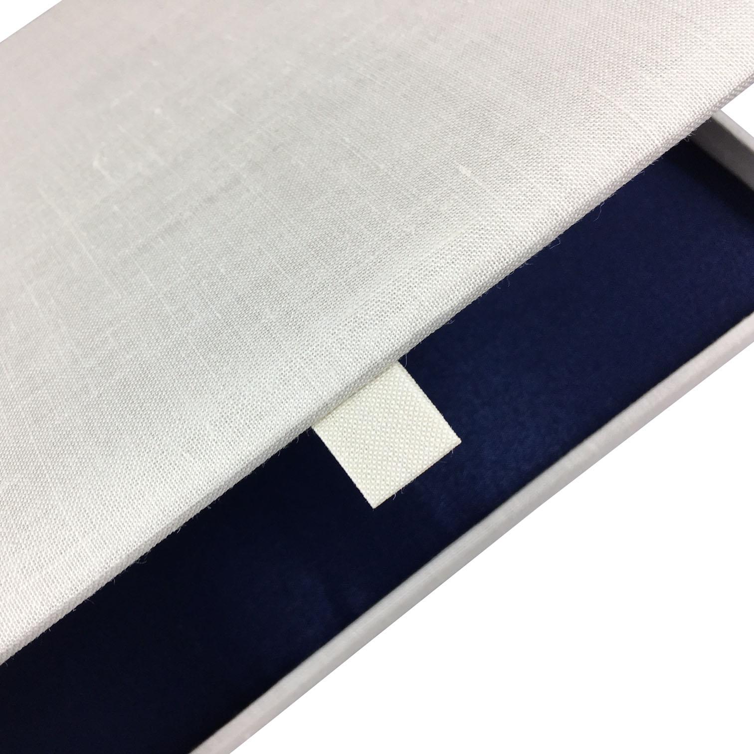 linen invitation box