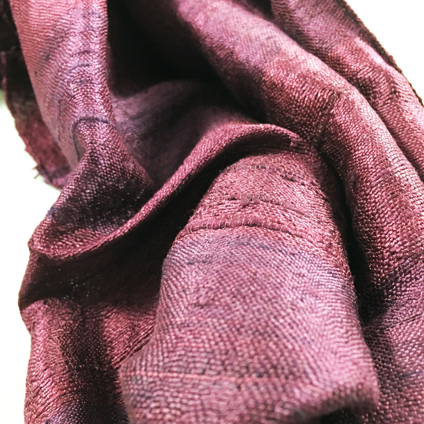 picture of wine red raw silk shawl